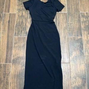 Zara collection open back black dress